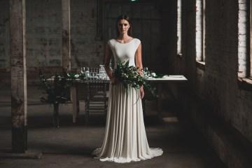 Moody & Modern Warehouse Wedding Inspiration by Jonathan Kuhn Photography 27