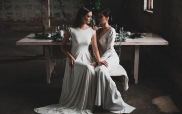 Moody & Modern Warehouse Wedding Inspiration by Jonathan Kuhn Photography 29
