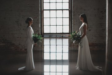 Moody & Modern Warehouse Wedding Inspiration by Jonathan Kuhn Photography 32