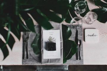 Moody & Modern Warehouse Wedding Inspiration by Jonathan Kuhn Photography 33