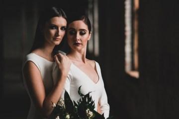 Moody & Modern Warehouse Wedding Inspiration by Jonathan Kuhn Photography 35