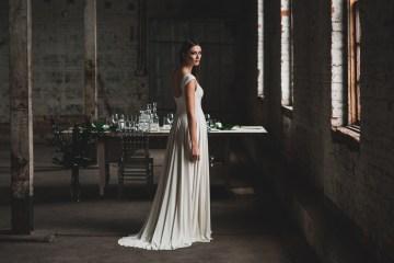 Moody & Modern Warehouse Wedding Inspiration by Jonathan Kuhn Photography 7