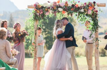 Romantic Jewel-Toned Wedding by Sara Lynn Photography