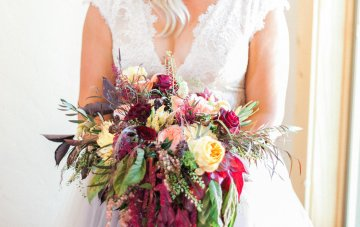 Romantic Jewel-Toned Wedding by Sara Lynn Photography 2