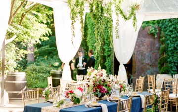 White Tie Winery Wedding with Incredible Decor
