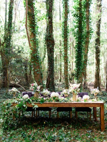 Woodland Wedding Inspiration by Molly Lichten Photography and Jamie Leigh Events 26