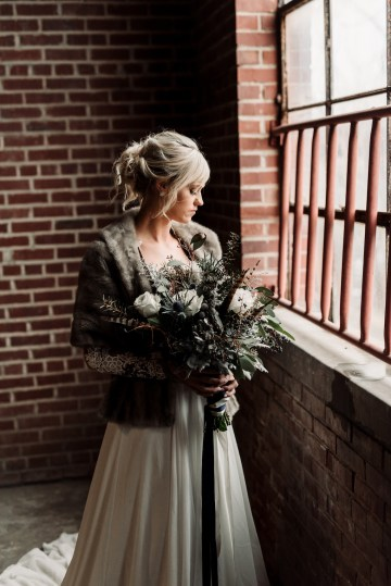 Moody Winter Wedding Inspiration by Kelcy Leigh Photography 37