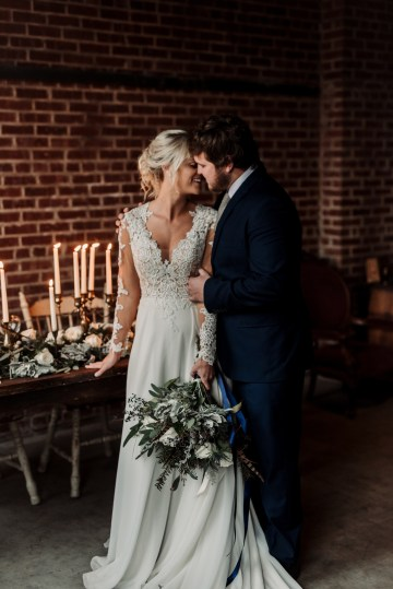 Moody Winter Wedding Inspiration by Kelcy Leigh Photography 38