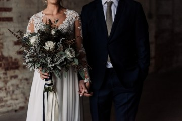 Moody Winter Wedding Inspiration by Kelcy Leigh Photography 39
