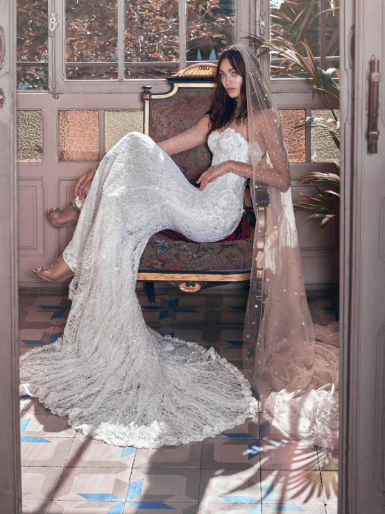 Inez and Stardust veil Galia Lahav Wedding Dress Collection 2018 08