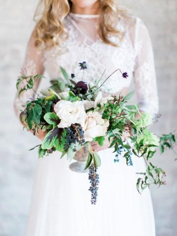 Pretty Warehouse Wedding Inspiration by Natashia Nicole Photography 1