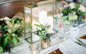 Organic Meets Industrial Warehouse Wedding Inspiration