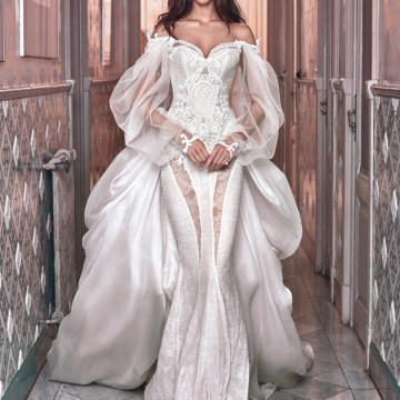 Thelma and Ossie train Galia Lahav Wedding Dress Collection 2018 28