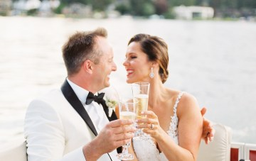 Glamorous Gatsby-Inspired Lake House Wedding