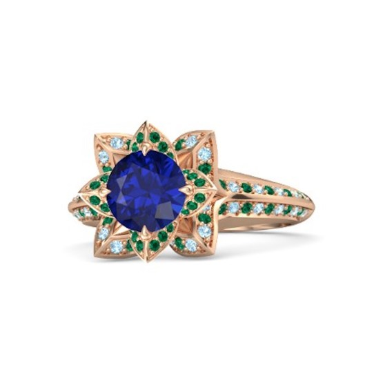 round-blue-sapphire-14k-rose-gold-ring-with-emerald-and-aquamarine