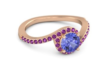 round-tanzanite-18k-rose-gold-ring-with-rhodolite-garnet