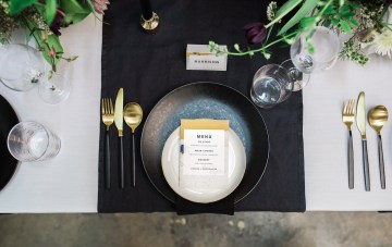 Neon, Leather, & Monochrome; Modern Wedding Inspiration