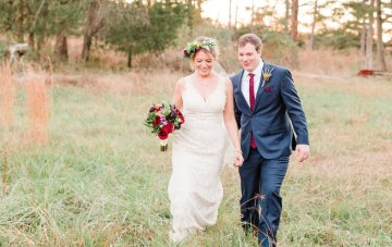 Eclectic Barn Wedding in Fall