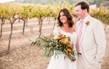 Harvest-Inspired Vineyard Wedding in California