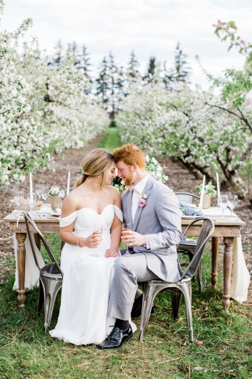 Bright and Colorful Apple Blossom Orchard Wedding Inspiration | Shanell Photography & Mitten Weddings and Events 19