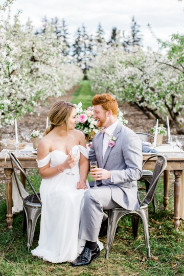 Bright and Colorful Apple Blossom Orchard Wedding Inspiration | Shanell Photography & Mitten Weddings and Events 20