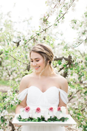 Bright and Colorful Apple Blossom Orchard Wedding Inspiration | Shanell Photography & Mitten Weddings and Events 3