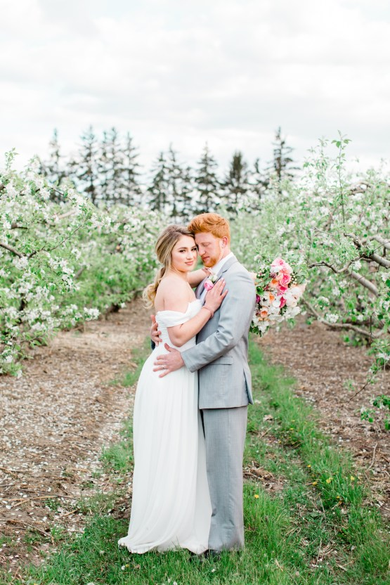 Bright and Colorful Apple Blossom Orchard Wedding Inspiration | Shanell Photography & Mitten Weddings and Events 31
