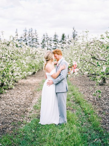 Bright and Colorful Apple Blossom Orchard Wedding Inspiration | Shanell Photography & Mitten Weddings and Events 69