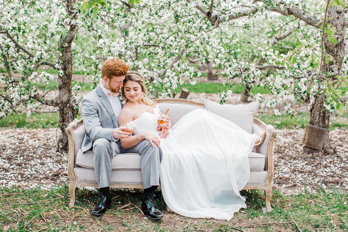Bright and Colorful Apple Blossom Orchard Wedding Inspiration | Shanell Photography & Mitten Weddings and Events 71