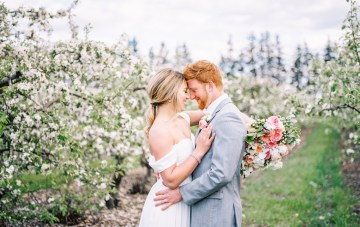 Bright and Colorful Apple Blossom Orchard Wedding Inspiration