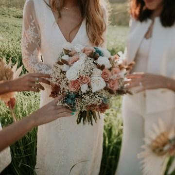 Free-Spirited & Panoramic Boho Wedding Inspiration   Sara Cuadrado and El Ramo Volador 39