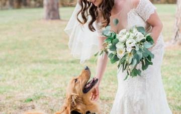 Gilded Florida Farm Wedding with an Adorable Golden Pup | Lauren Galloway Photography 15
