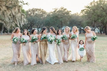Gilded Florida Farm Wedding with an Adorable Golden Pup | Lauren Galloway Photography 60
