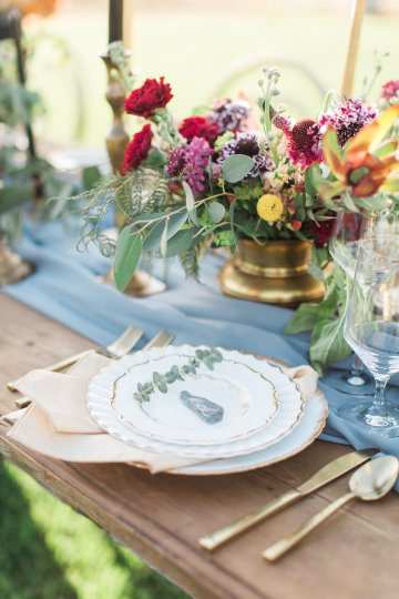 Romantic Gold, Grey and Berry Vineyard Wedding Inspiration | Jenny Quicksall & An Enlightened Event 54