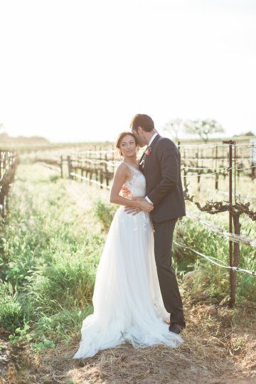 Romantic Gold, Grey and Berry Vineyard Wedding Inspiration | Jenny Quicksall & An Enlightened Event 62