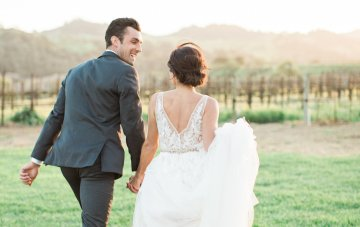 Romantic Gold, Grey and Berry Vineyard Wedding Inspiration | Jenny Quicksall & An Enlightened Event 66
