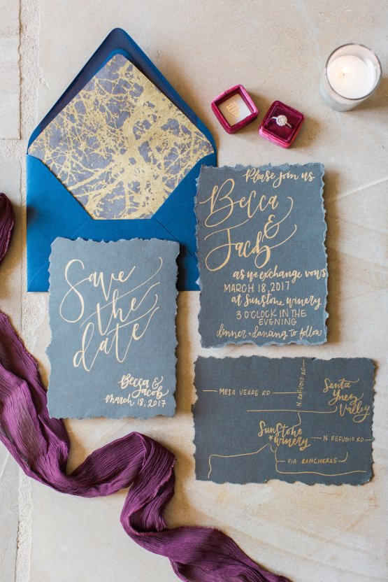Romantic Gold, Grey and Berry Vineyard Wedding Inspiration | Jenny Quicksall & An Enlightened Event 9