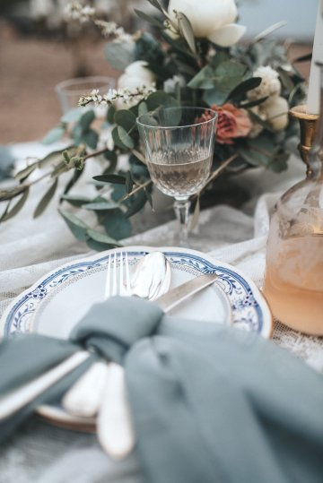 Stormy Scandinavian Wedding Inspiration Featuring a Dramatic Blue Gown | Snowflake Photo 34