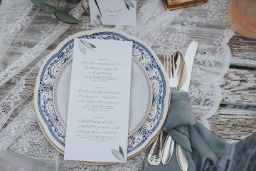 Stormy Scandinavian Wedding Inspiration Featuring a Dramatic Blue Gown | Snowflake Photo 7