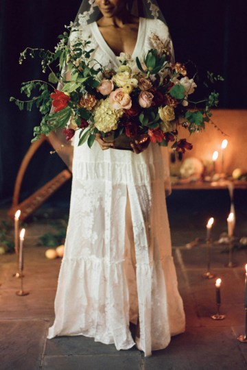Romantic Candlelit Wedding Inspiration Full of Drama | Megan Wynn 18