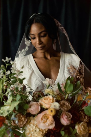 Romantic Candlelit Wedding Inspiration Full of Drama | Megan Wynn 31
