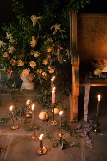 Romantic Candlelit Wedding Inspiration Full of Drama | Megan Wynn 41