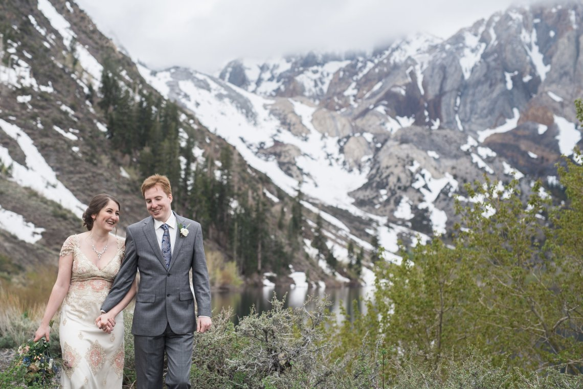 Snowy Mountain Wedding With A Pink & White Vintage Inspired Gown | Victoria Johansson 12