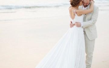 The Dreamiest Sunset Beach Wedding in Thailand