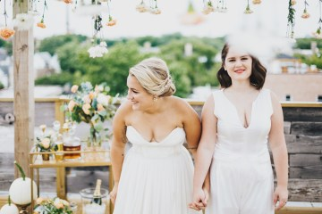 The Sweetest Autumnal Elopement Inspiration (On A Rooftop!)   Rachel Brown Kulp Photography 20