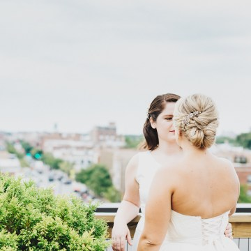 The Sweetest Autumnal Elopement Inspiration (On A Rooftop!) | Rachel Brown Kulp Photography 22