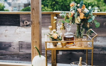 The Sweetest Autumnal Elopement Inspiration (On A Rooftop!) | Rachel Brown Kulp Photography 31