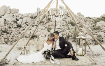 Boho Chic Elopement Inspiration With Creative Teepee Ideas