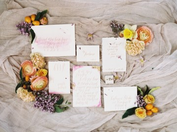 Bright & Colorful Wedding Inspiration With An Incredible Floral Dress | Rosencrown Photography 2