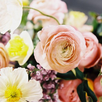 Bright & Colorful Wedding Inspiration With An Incredible Floral Dress   Rosencrown Photography 21